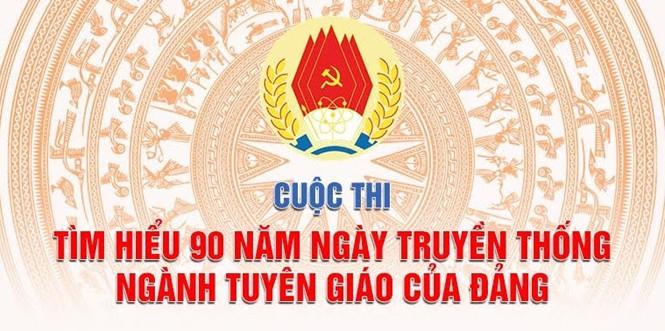 """tham gia cuộc thi """"Tìm hiểu 90 năm ngày truyền thống ngành Tuyên giáo  của Đảng"""""""